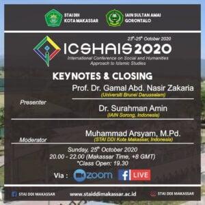 STAI DDI Kota Makassar dan IAIN Gorontalo Sukses Laksanakan Konferensi Internasional ICSHAIS 2020